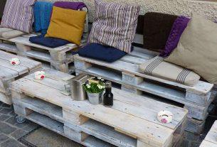 Meble ogrodowe z palet - fanaberia czy pomysł na lata?